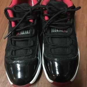 Size 4 boys Jordan patent leather sneaker.